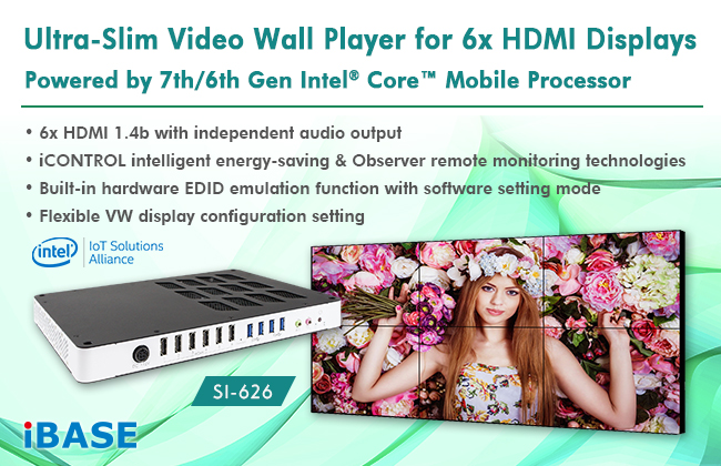 Ultra-Slim SI-626 Video Wall Player