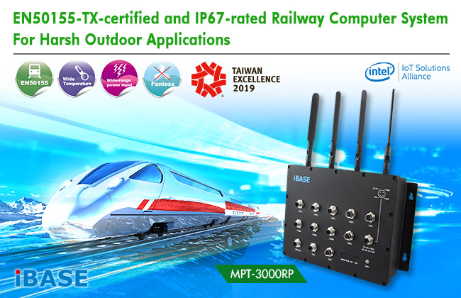 EN50155-TX-certified and IP67-rated Railway Computer System for Harsh Outdoor Applications