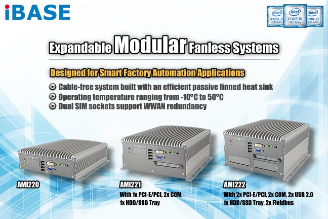 Expandable Fanless & Ventless System for 7th/6th Generation Intel® Core™ i7/i5/i3 Desktop Processors - AMI220