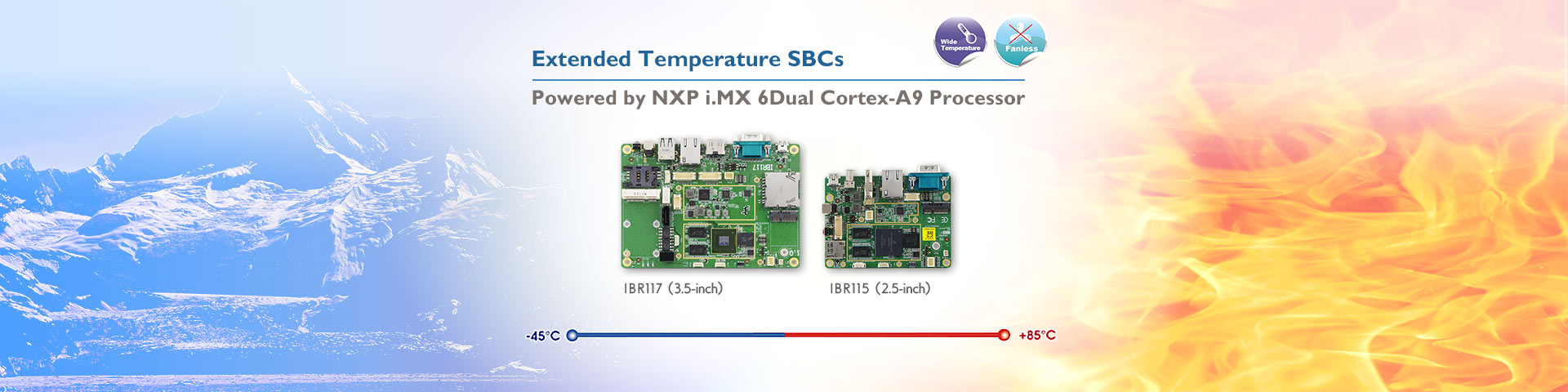 IBR115 and IBR117 Extended Temperature SBCs