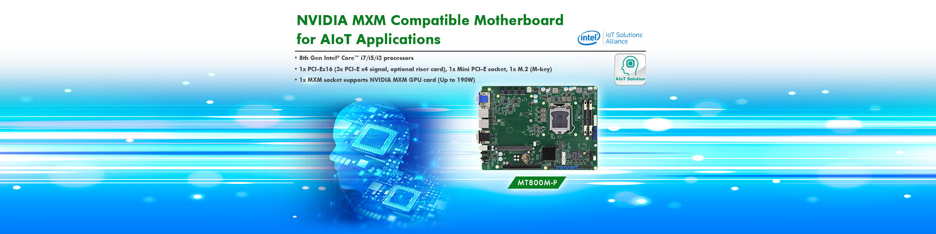 NVIDIA MXM Compatible Motherboard for AIoT Applications